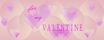 Panoramic Valentines Day background Stock Photo