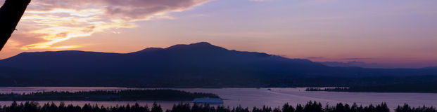 Panoramic of Vancouver Island Royalty Free Stock Photo