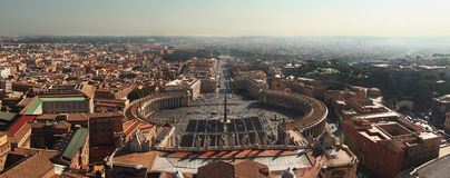Panoramic of Vatican City Royalty Free Stock Image