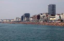 Panoramic veiw of Brighton beach Stock Photos