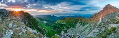 Panoramic vew on Mountains, Tatras. Royalty Free Stock Images