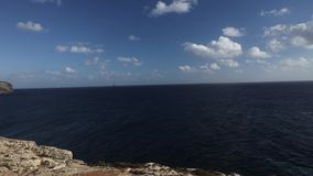 Panoramic video of Blue Grotto area in Malta, Europe stock video