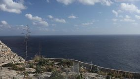 Panoramic video of Blue Grotto area in Malta, Europe stock footage