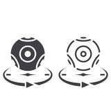 Panoramic video camera line icon, outline and solid vector sign, Stock Photos