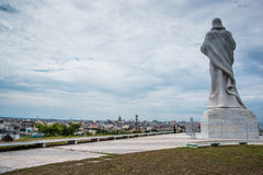 Panoramic vie over Havana from Jesus monument Royalty Free Stock Images