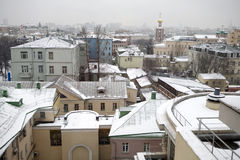 Panoramic vie to winter Moscow Royalty Free Stock Photo