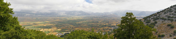 Panoramic view. Of a Cretan landscape Royalty Free Stock Photos