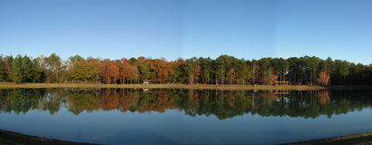 Panoramic view. Here is a picture of Luna Lake located in Warner Robins GA Stock Photo