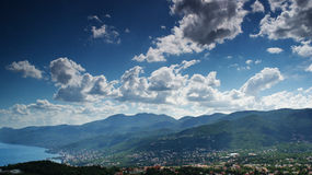 Panoramic view Stock Photography