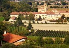 Panoramic view of the Abbey of Praglia, Padua, Veneto. Italy royalty free stock image