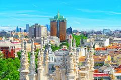 Panoramic view from above on the capital of Spain- the city of M Stock Image