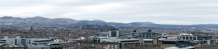Panoramic view from above on Edinburgh, UK Stock Photography