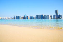 Panoramic view of Abu Dhabi, UAE Stock Image