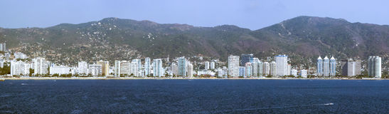 Panoramic view of Acapulco. A panoramic view of the skyscraper riviera of Acapulco, Mexico Stock Photography