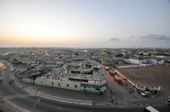 Panoramic View of Accra, Ghana. In the evening from the Jamestown Lighthouse Stock Photos