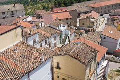 Panoramic view of Acerenza. Basilicata. Italy. Stock Images