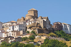 Panoramic view of Acerenza. Basilicata. Italy. Stock Photos
