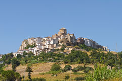 Panoramic view of Acerenza. Basilicata. Italy. Royalty Free Stock Photo