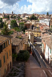 Panoramic view on Acquedotto Street in Perugia, Umbria, Italy Stock Photography