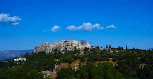 The Panoramic View of Acropolis and Parthenon Stock Photo