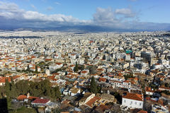 Panoramic view from Acropolis to city of Athens, Attica Royalty Free Stock Photo