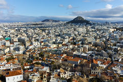 Panoramic view from Acropolis to city of Athens, Attica Stock Images