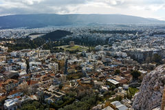 Panoramic view from Acropolis to city of Athens, Attica Royalty Free Stock Images