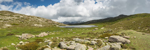 Panoramic view across Lac De Nino in Corsica Stock Photography