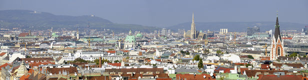 Panoramic view  across Vienna Royalty Free Stock Photos
