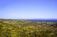 Panoramic view of Aegina island Stock Photo