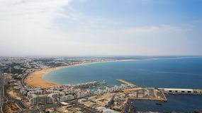 PANORAMIC VIEW OF AGADIR FROM THE CASBAH Stock Image
