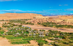 Panoramic view of Ait Benhaddou, a UNESCO world heritage site in Morocco. Panoramic view of Ait Ben Haddou, a UNESCO world heritage site in Morocco Royalty Free Stock Photography