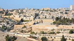 Panoramic view of Al-Aqsa Mosque Stock Photography