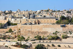 Panoramic view of Al-Aqsa Mosque, Stock Photo