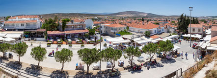 Panoramic view of Alacati, Izmir province, Turkey Stock Photo