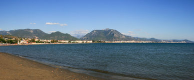 Panoramic view Alanya beach Stock Photography