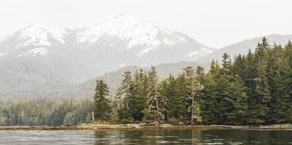 Panoramic View of Alaskan Mountains Royalty Free Stock Images