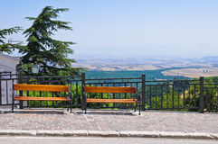 Panoramic view of Alberona. Puglia. Italy. Stock Images