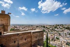 Panoramic view of Alcazaba of Alhambra and Albaycin Albaicin, Albayzín, Albaicín Stock Photos