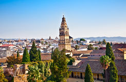 Panoramic view from Alcazar on Cordoba's roofs, Andalusia, Spain Royalty Free Stock Image