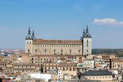 Panoramic view of Alcazar, Toledo, Spain Royalty Free Stock Photos