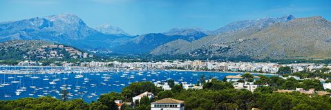 Panoramic View of Alcudia Bay Stock Photos