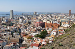 Panoramic view of Alicante (Spain) Stock Photo