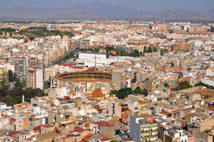 Panoramic view of Alicante (Spain) Royalty Free Stock Image