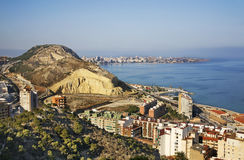 Panoramic view of Alicante. Spain Royalty Free Stock Photo