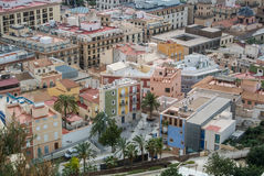 A panoramic view of Alicante, Spain. A panoramic view over the roofs at the center of Alicante, Spain Stock Image
