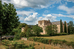 Panoramic view of Allemagne–en–Provence Castle, near the village of the same name. Royalty Free Stock Images