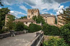 Panoramic view of Allemagne–en–Provence Castle, near the village of the same name. Stock Photos