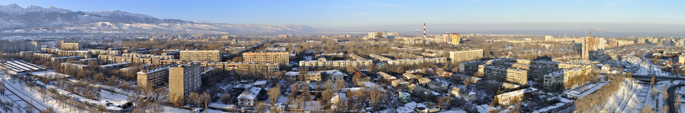 Panoramic View on Almaty Stock Photos