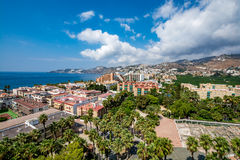 Panoramic view of Almuñécar Almunecar on a beautiful day Royalty Free Stock Image